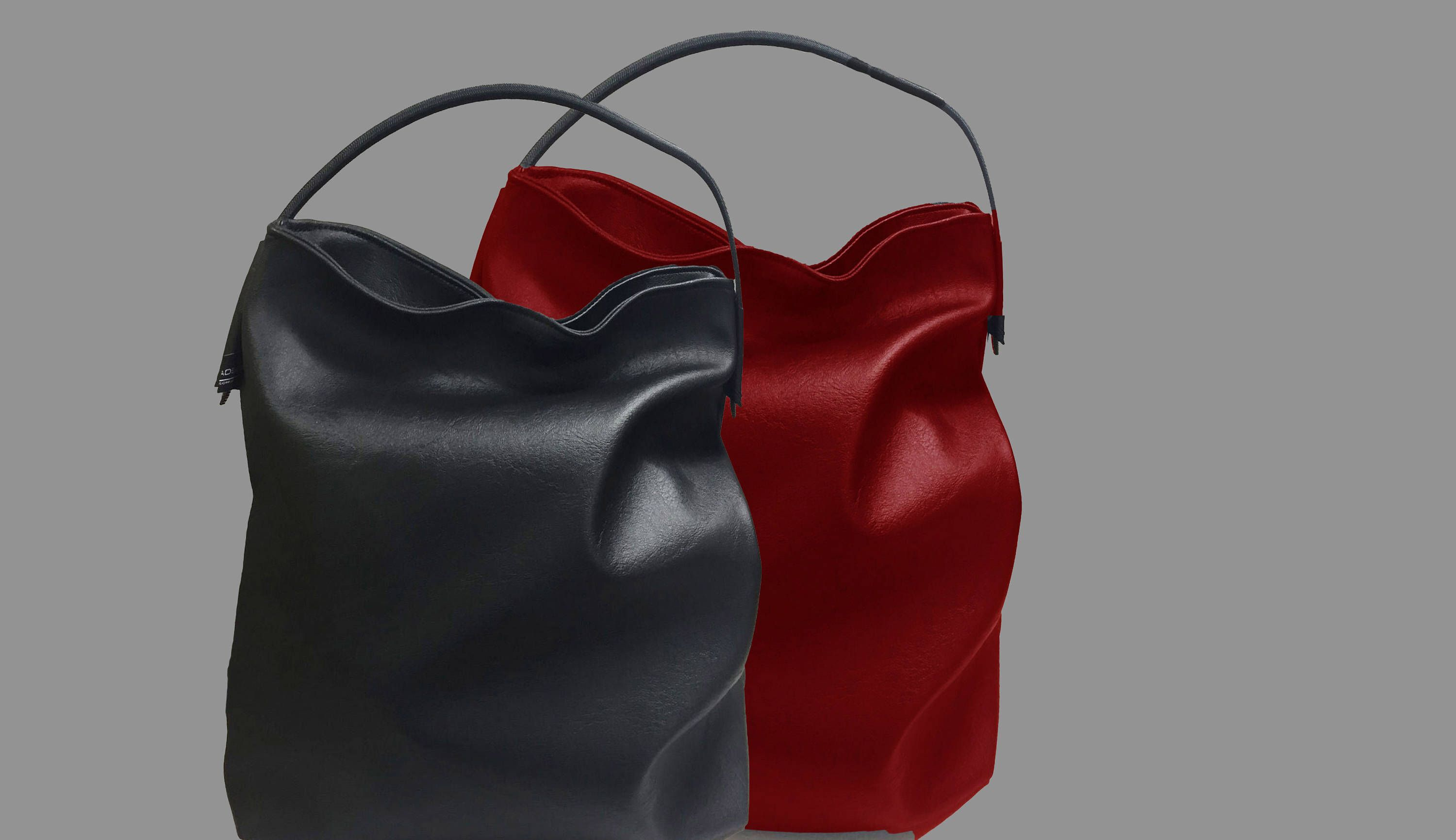 Hobo Handbag Made Of Synthetic Leather With Carrying Handle Also For