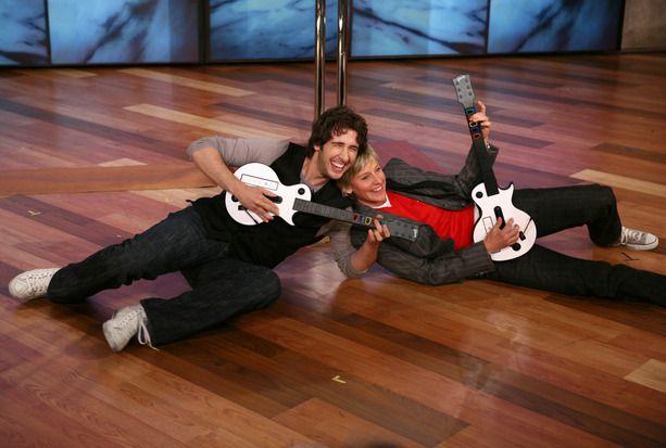 Ellen rocks out with Josh Groban.