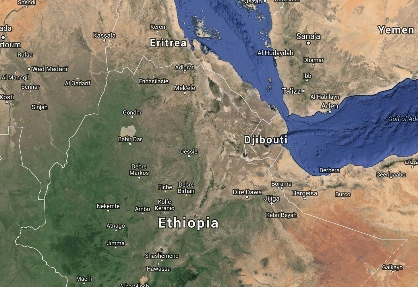 Ethiopia Map: Addis Ababa — Tigray | Ethiopia Google ... on