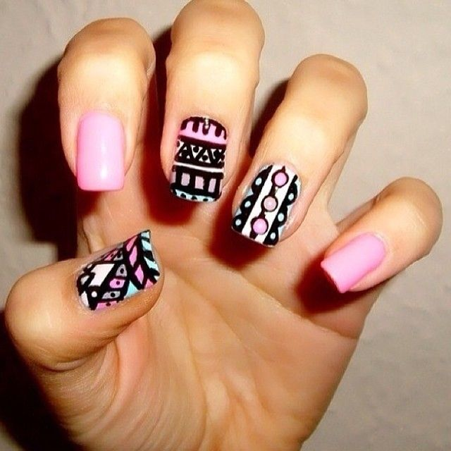 Tribe nailart always looks beautiful   #nailart #nail #fashion