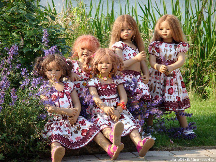 Красивые фото кукол разных на природе