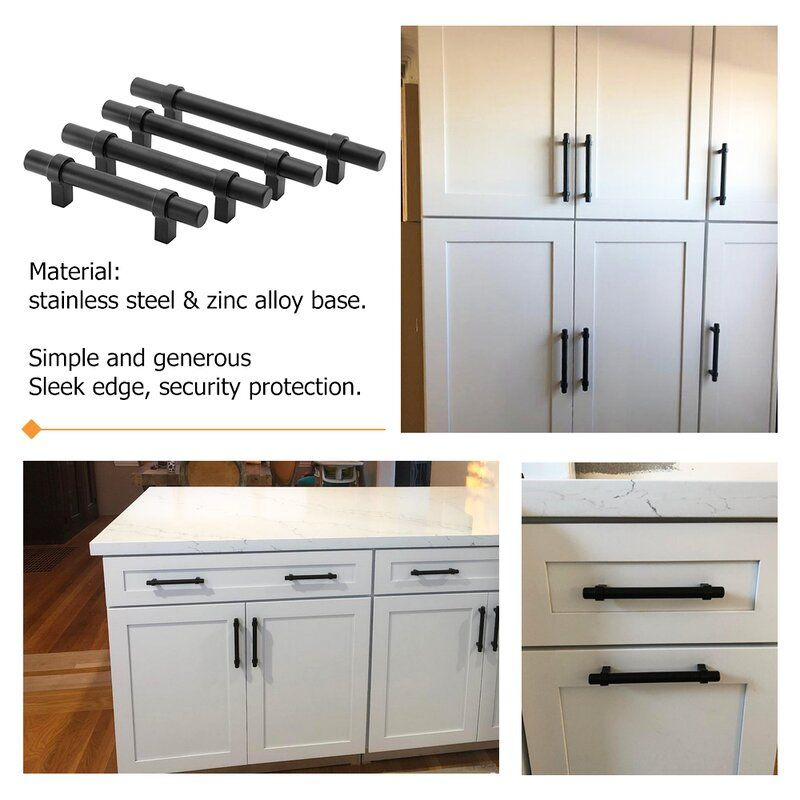 3 Center Bar Pull Multipack In 2021 Black Cabinet Handles Kitchen Cabinet Handles Cabinet Handles What size bar pulls for kitchen cabinets