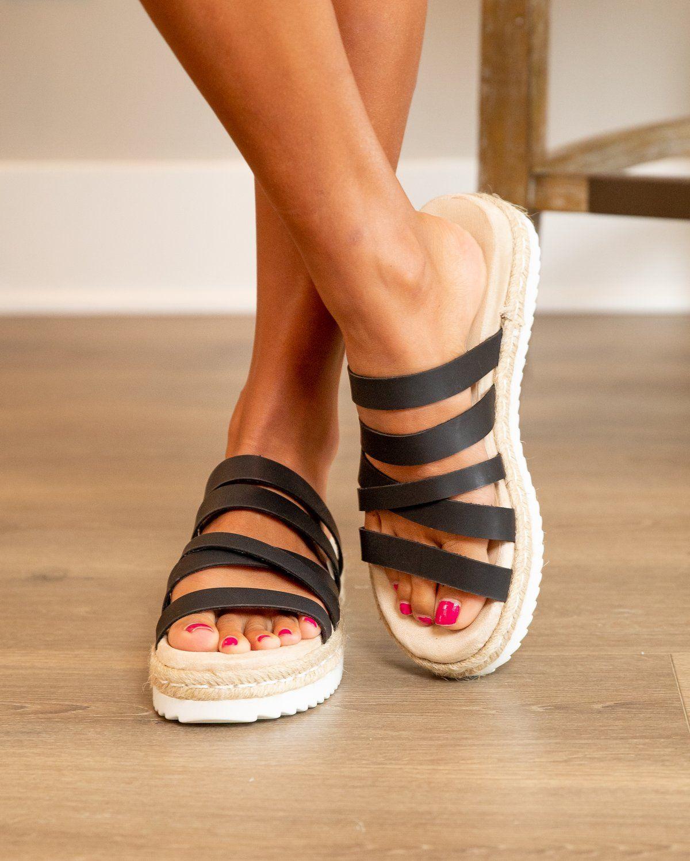 Breeze Pink Cross Over Espadrille Flatform Sandals