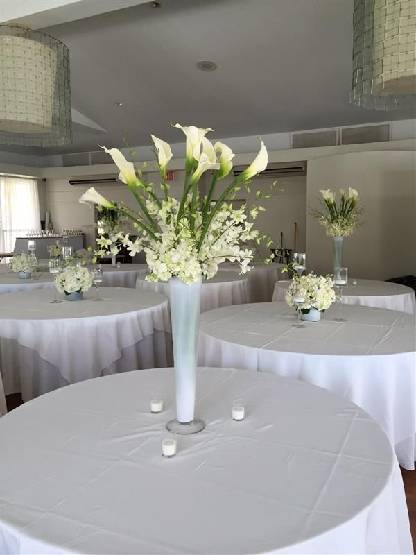 Calla Lily Centerpiece And Wedding Tree Reception Decorations