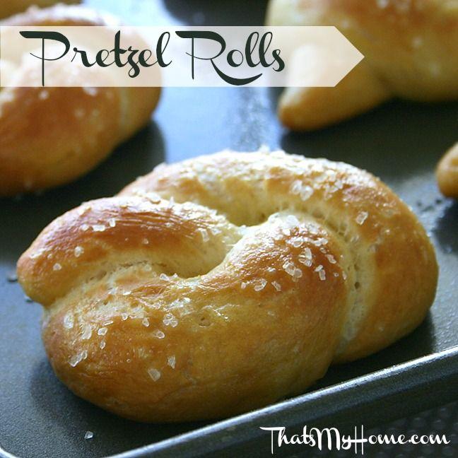 Pretzel rolls receta panader as for Cocinar a 90 grados