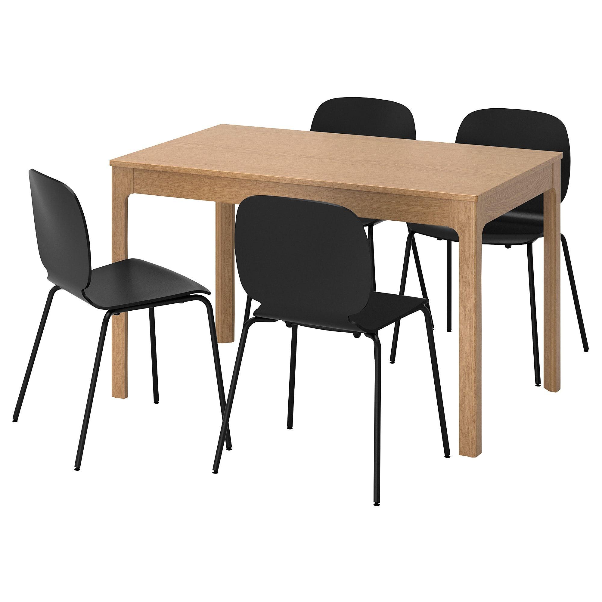 Ekedalen Svenbertil Tisch Und 4 Stuhle Eiche Schwarz Ikea