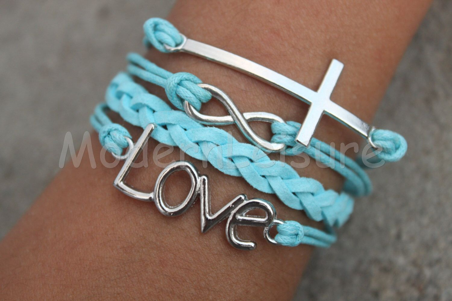 Infinity bracelet cross bracelet love bracelet for girls charm