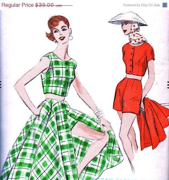 Sale: UNCUT Vintage 1950's Vogue Pattern 8886  by anne8865 on Etsy
