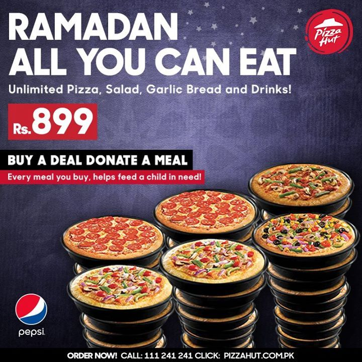 Pizza all you can eat pizza hut