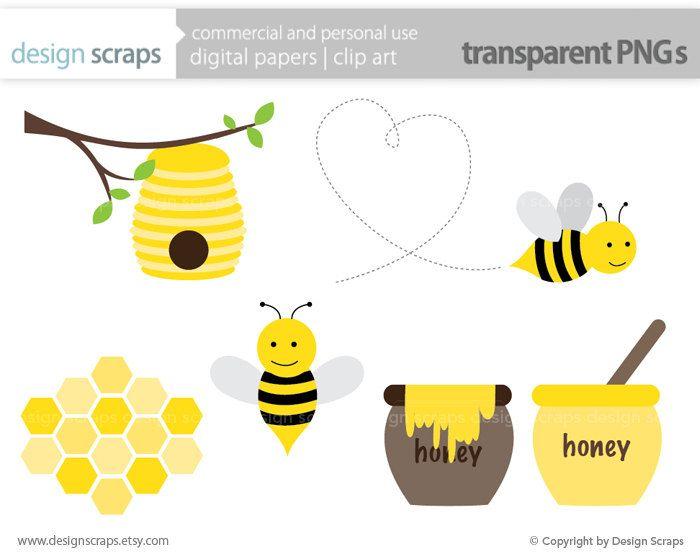 Bee Clip Art Graphics Bumble Honey Hive By Designscraps