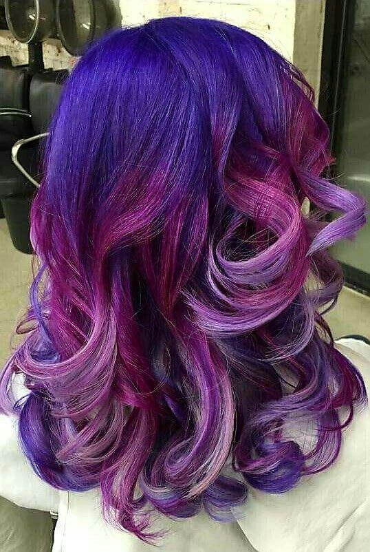 shade purple dyed hair