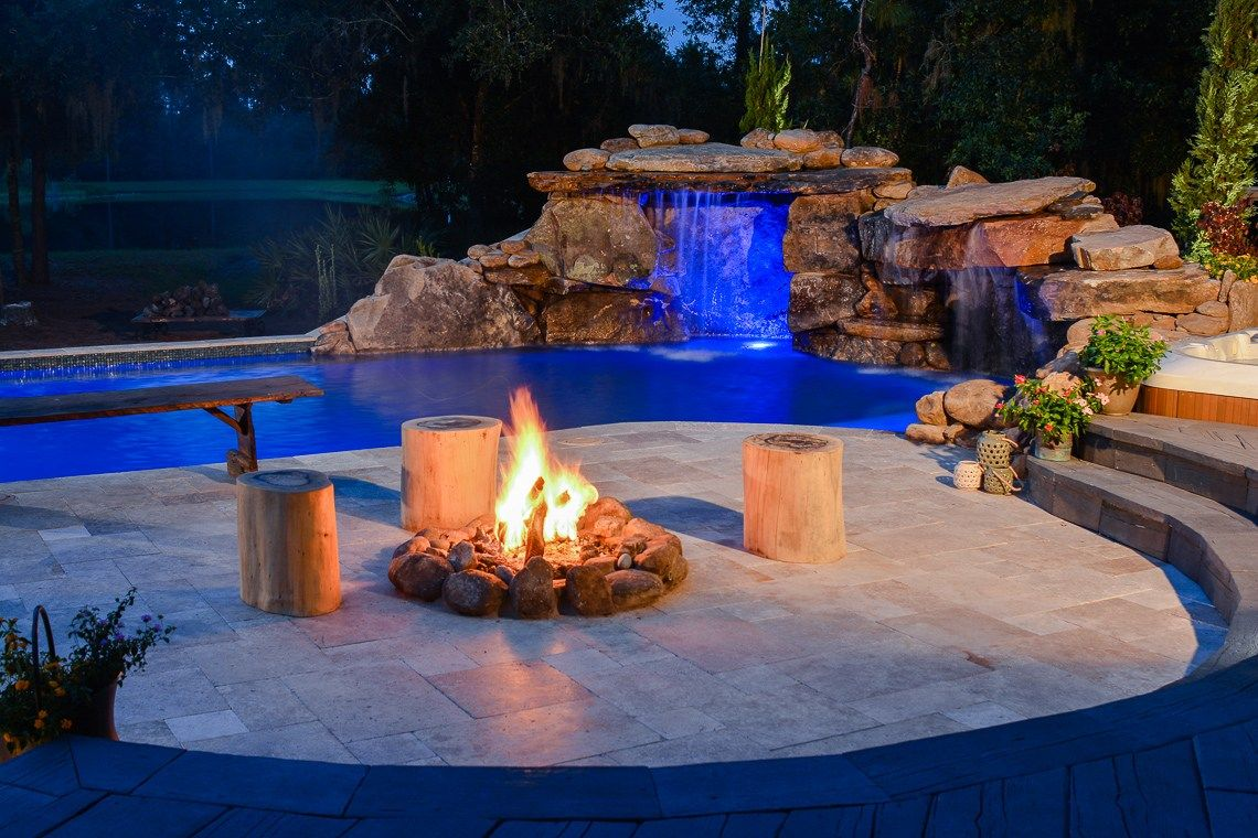 See Us On Insane Pools Off The Deep End Season 1 Episode 3 Mountain Lodge Oasis Featured Decor Direct Items Includ Insane Pools Custom Pools Fire Features