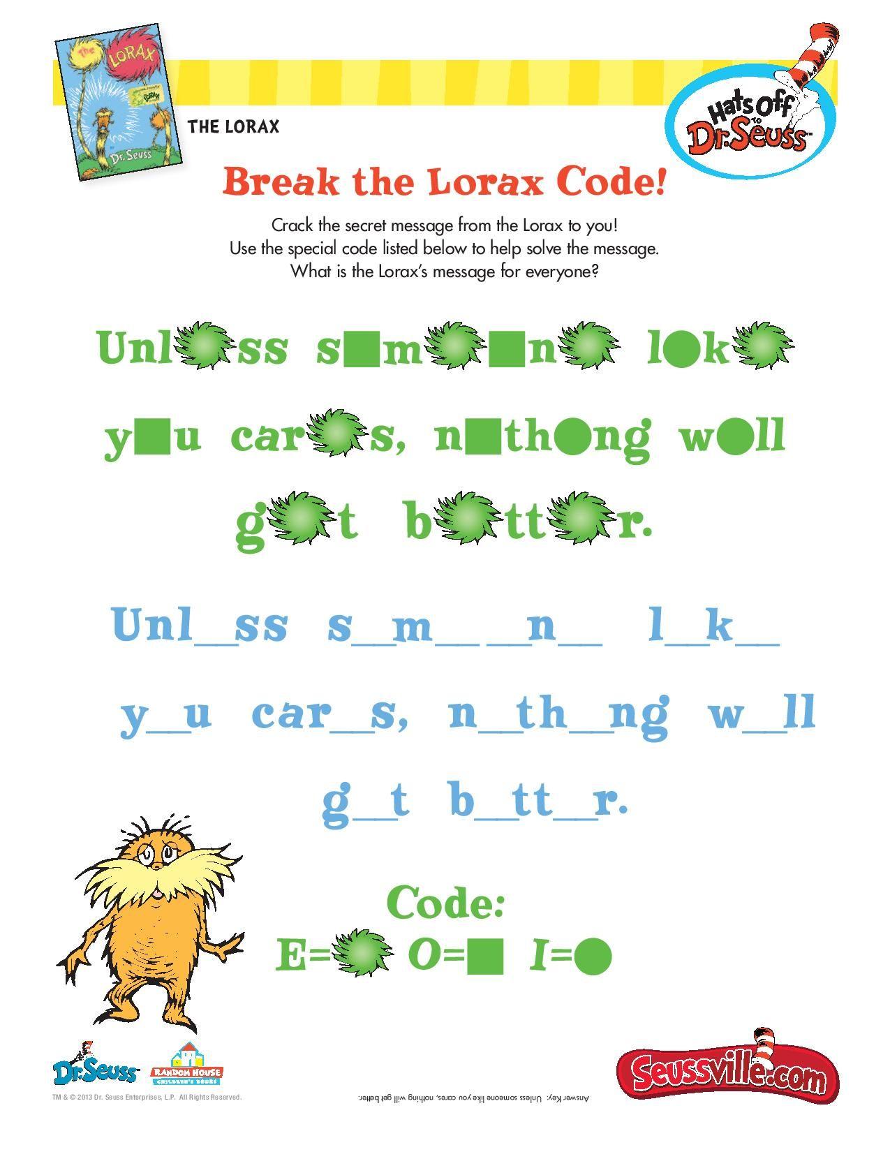 Break The Lorax Code