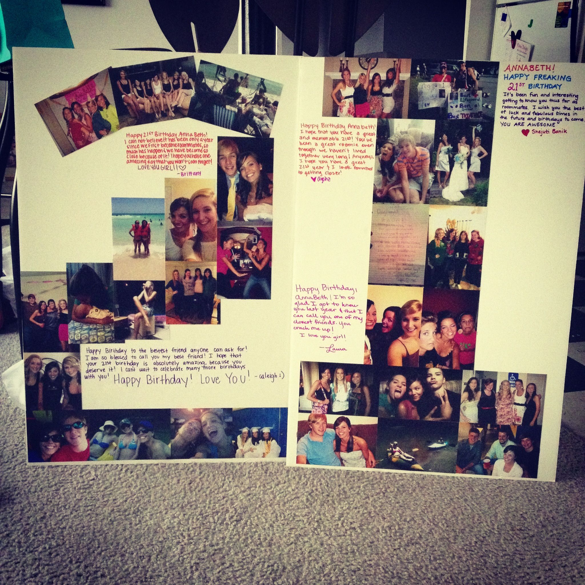 21st Birthday Idea Take A Picture Of Everyone At The Party And Make Poster Out It To Give Bday Person Later
