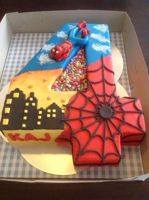 Festa super heris infantil 70 dicas simples cakes decorating lindo bolo homem aranha 4 anos altavistaventures Gallery