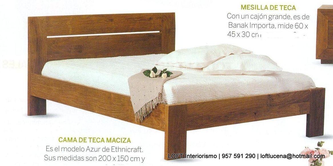 cama de madera de teca | Camas | Pinterest | Camas de madera, Madera ...
