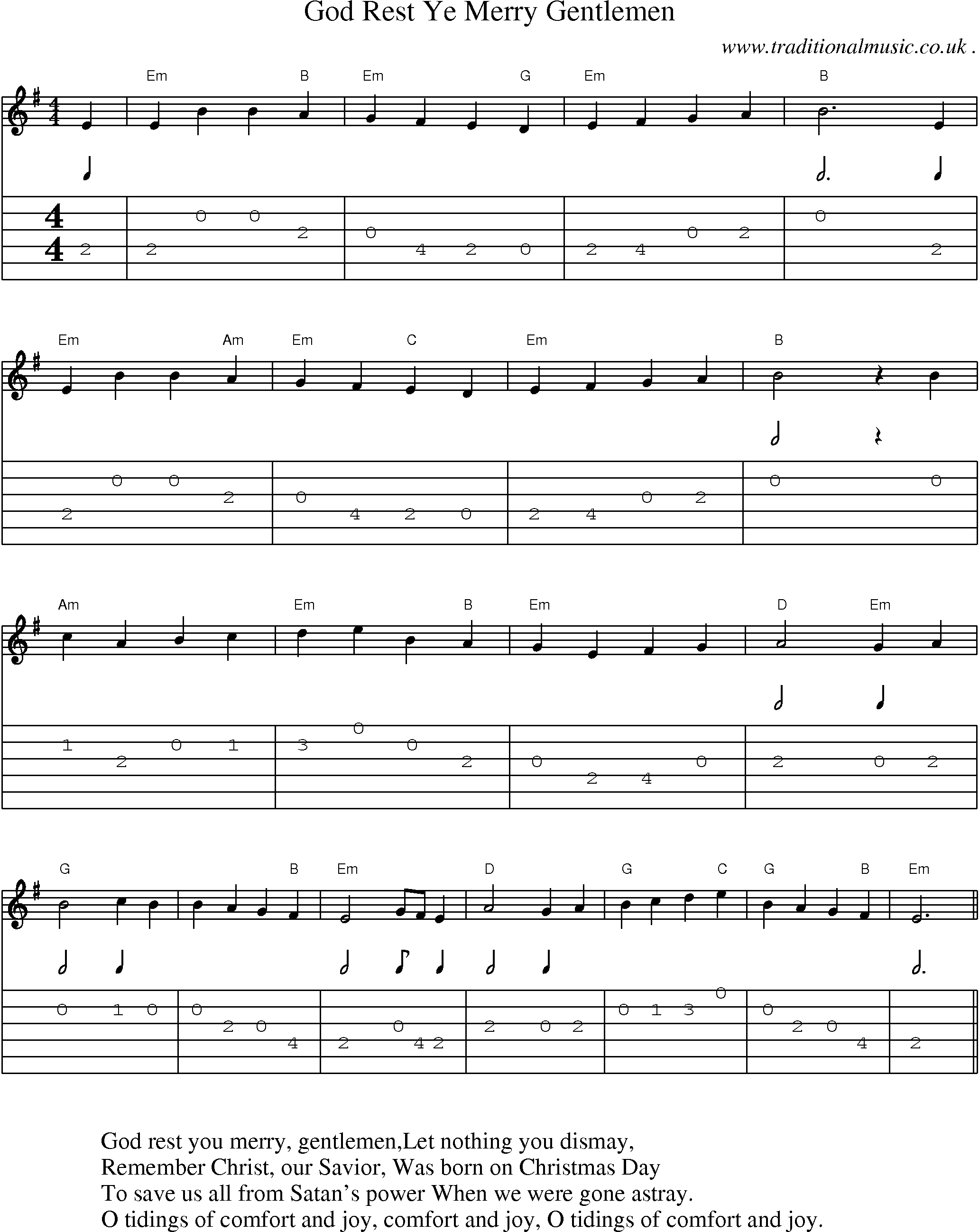 music score and guitar tabs for god rest ye merry gentlemen sheet music in 2019 guitar songs. Black Bedroom Furniture Sets. Home Design Ideas