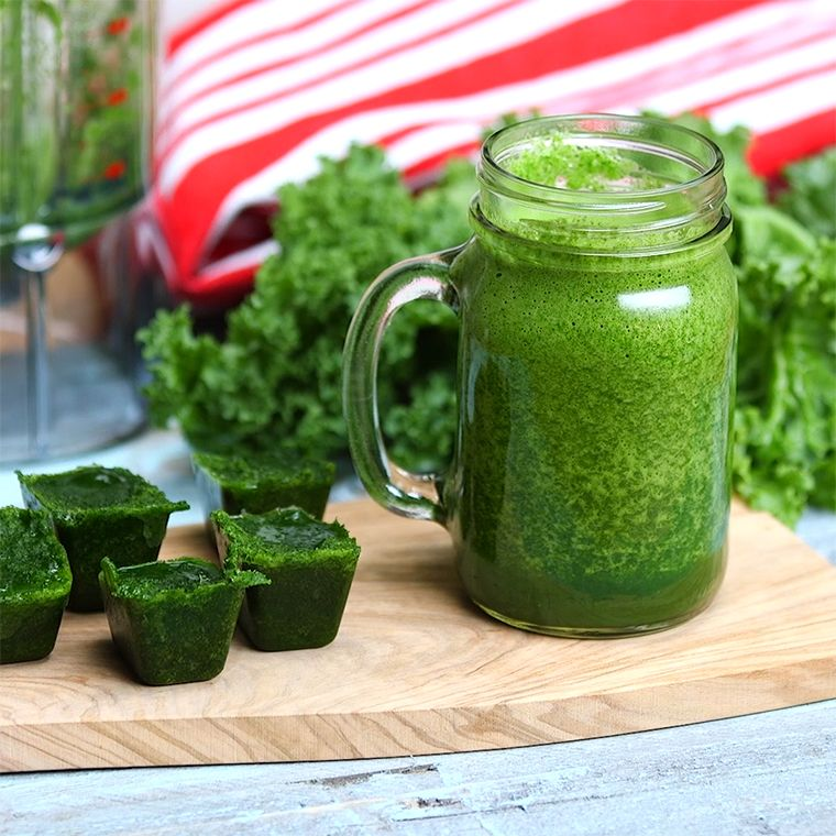 How To Freeze Kale Ice Cubes for Smoothies Easy