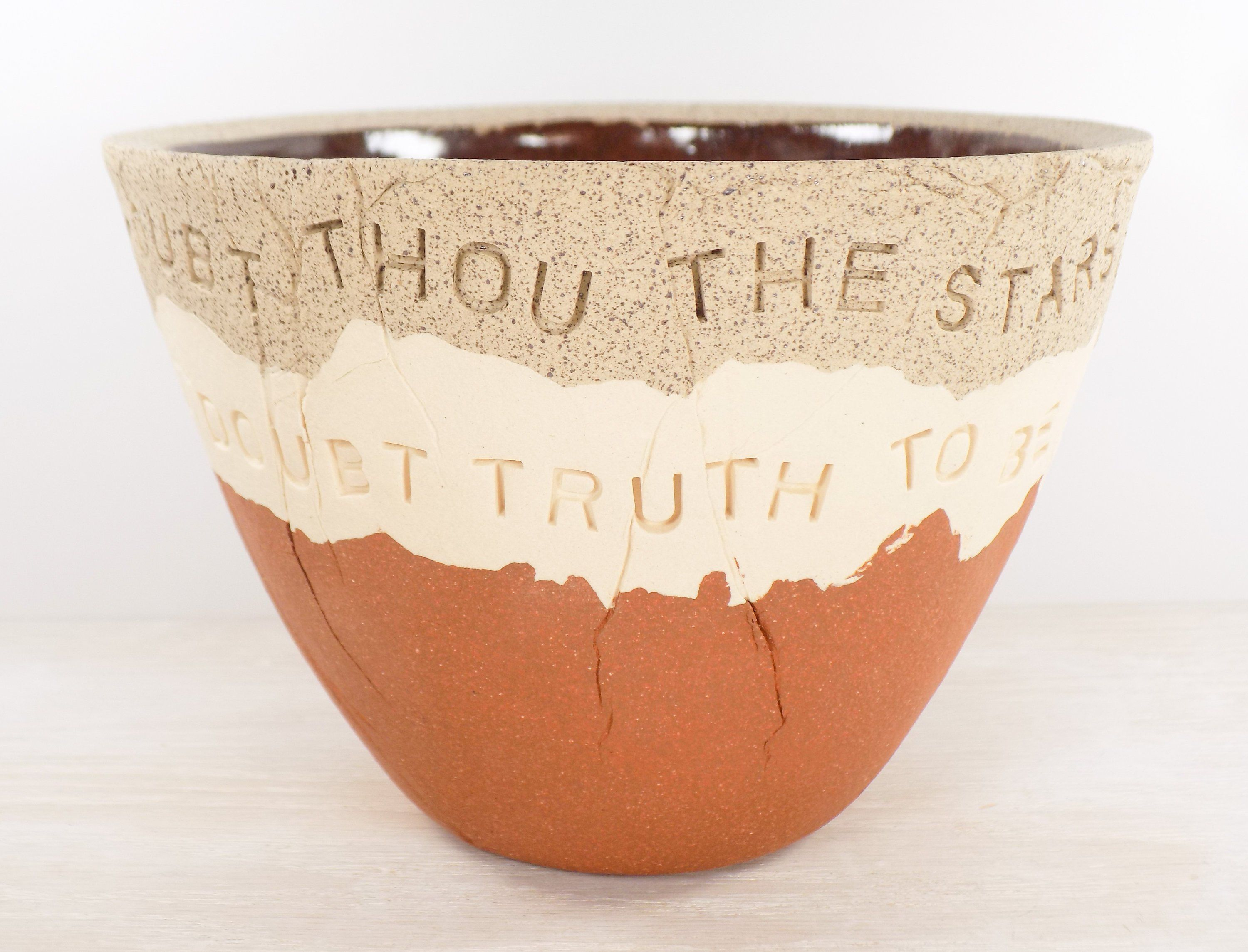 William Shakespeare - Pottery Bowl - But Never Doubt I ...