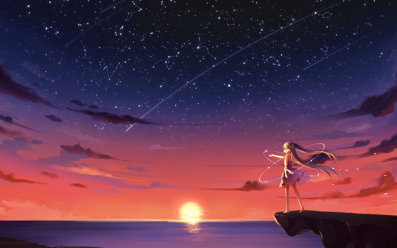 4k Wallpaper Anime Landscape HD Art Wallpaper em 2020