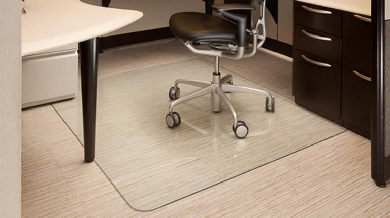 clear rolling chair mat