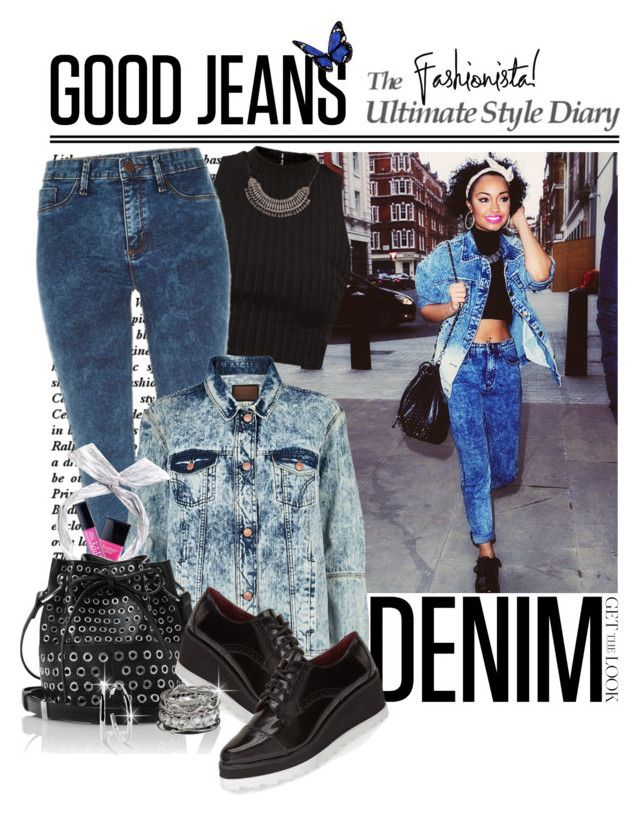 """""""Denim on Denim..Very Cute Fashionista"""" by shortyluv718 ❤ liked on Polyvore featuring River Island, ban.do, Butter London, Tamara Mellon, Sixtyseven, Ippolita and maurices"""