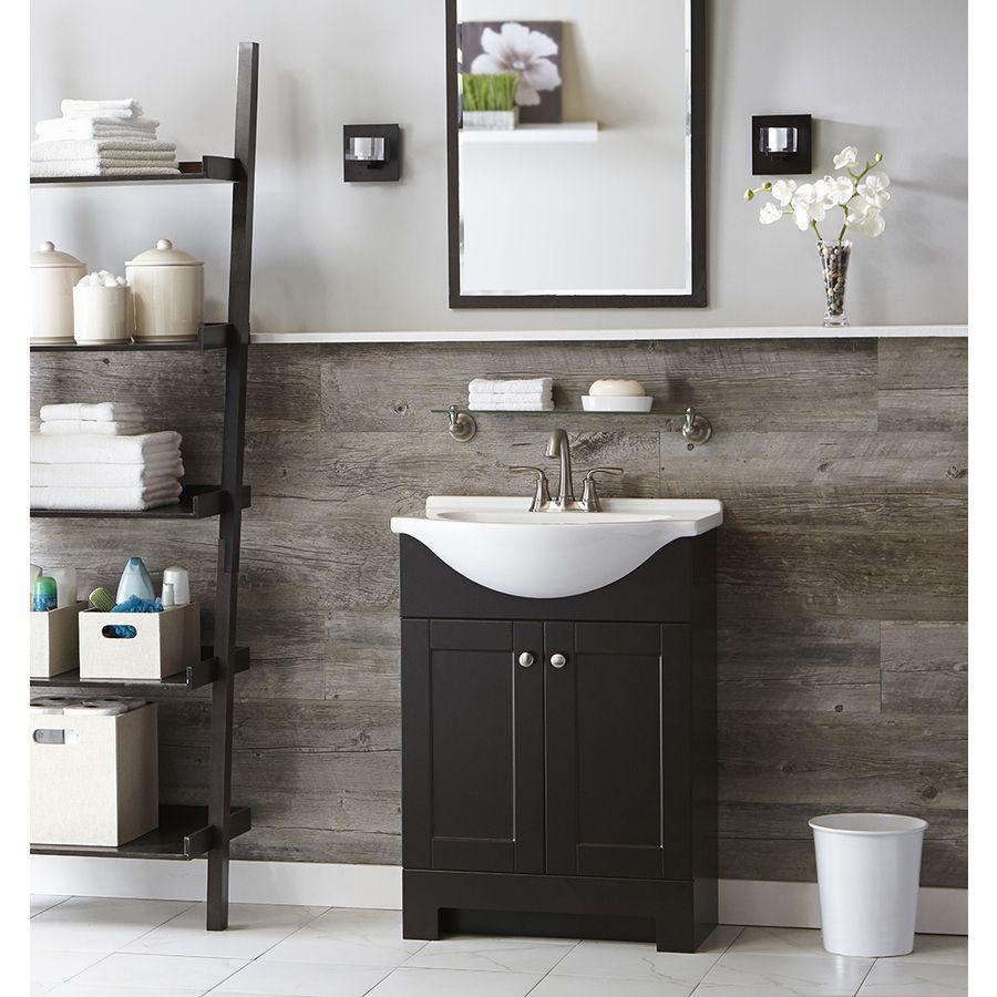 Euro Espresso Sink 25 inch | Bathroom vanity, Bathroom ...