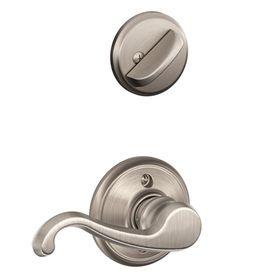 Schlage Callington 1 5 8 In To 1 3 4 In Satin Nickel Single Cylinder Lever Entry Door Interior Handle F59 Clt Rh 619 With Images Schlage Doors Interior Entry Doors