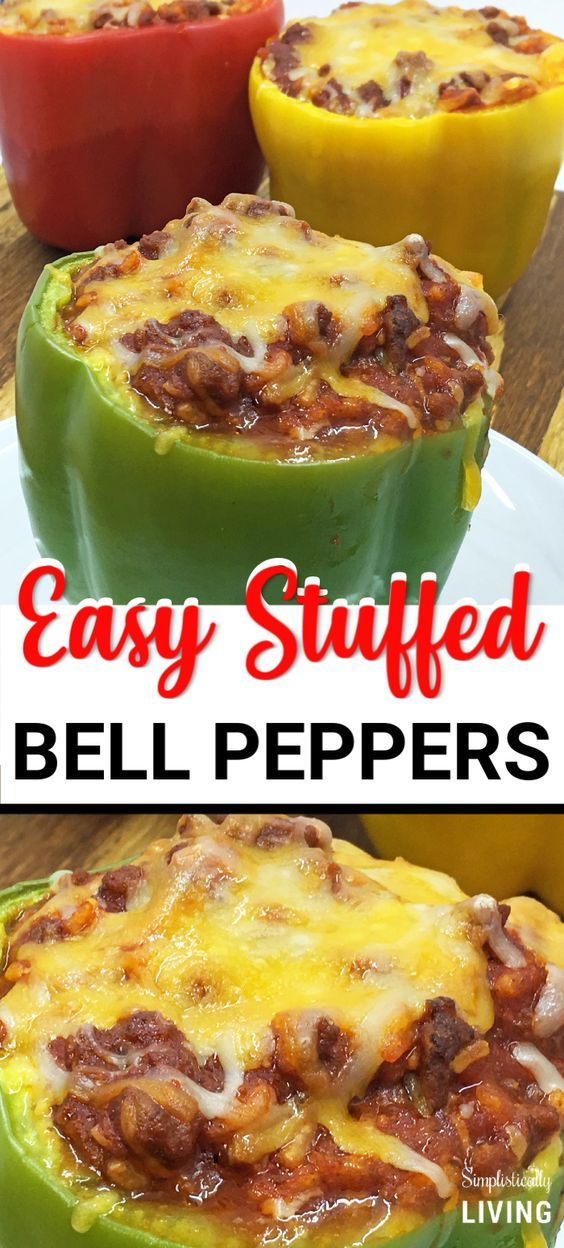 Stuffed Bell Peppers Recipe Stuffed Peppers Stuffed Bell Peppers Easy Stuffed Pepper Recipe
