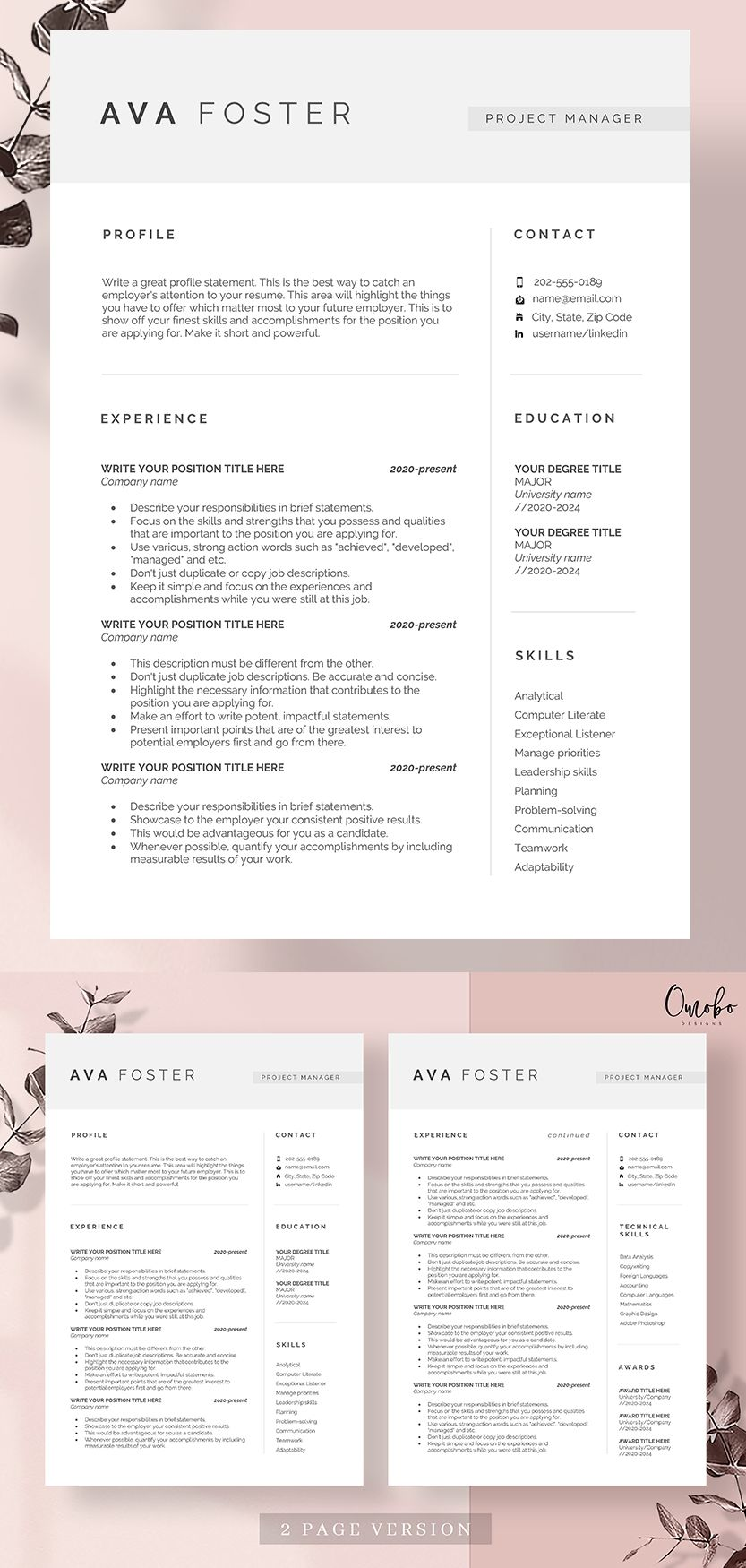 Professional Resume Template Resume Template Resume Resume Templates Curriculum Vitae Ms Word Functional Template Cv Template Ava Resume Template Resume Template Professional Resume Templates Resume template open office free