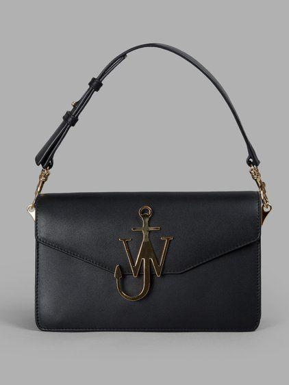J.W.ANDERSON J.W. Anderson Women'S Black Logo Purse. #j.w.anderson #bags #shoulder bags #wallet #leather #accessories #