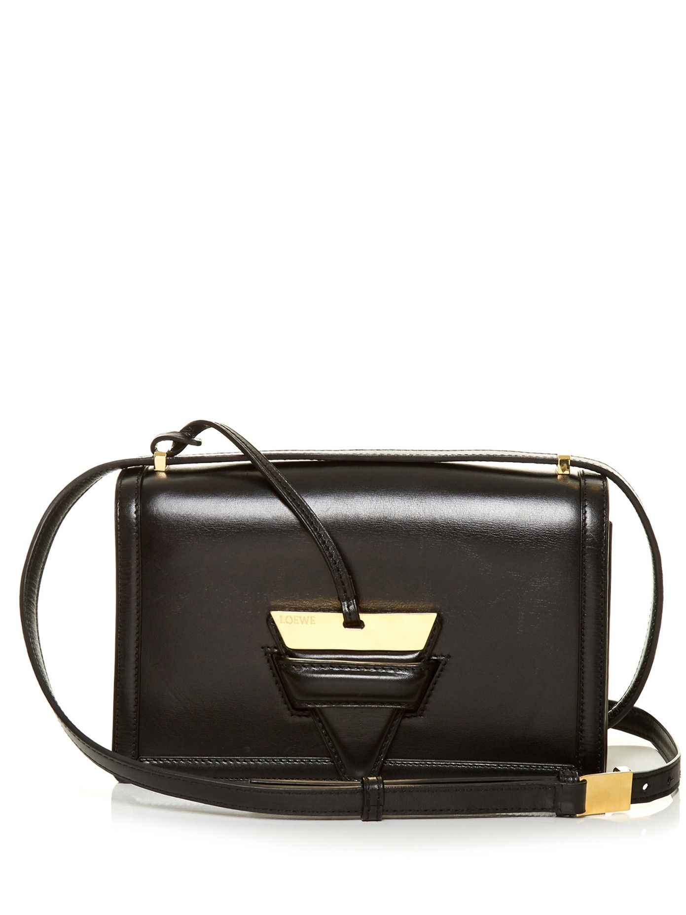 Loewe's Barcelona bag is defined by the gold-tone accented ...