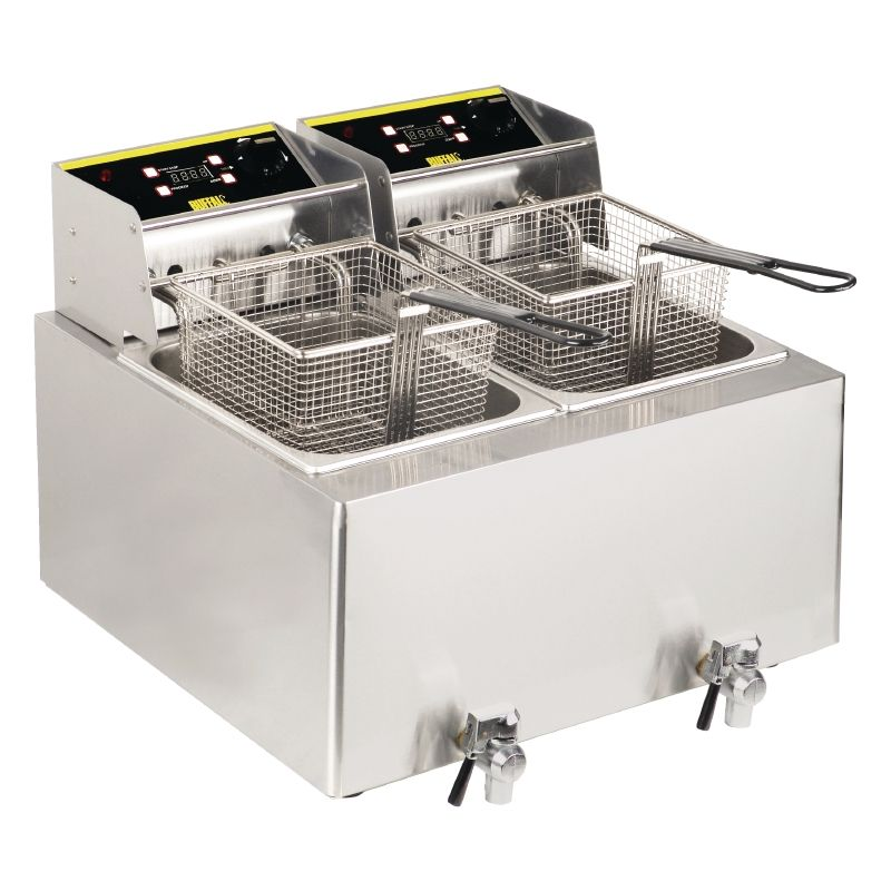 buffalo double 2 9kw fryer gh125 catering equipment commercial catering equipment countertops pinterest