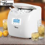 Never Run Out Of Ice Again Savoureux Pro Line Ice Maker Keeps The Party Going By Making Ice In As Li Portable Ice Maker Ice Maker Portable Ice Maker Camping