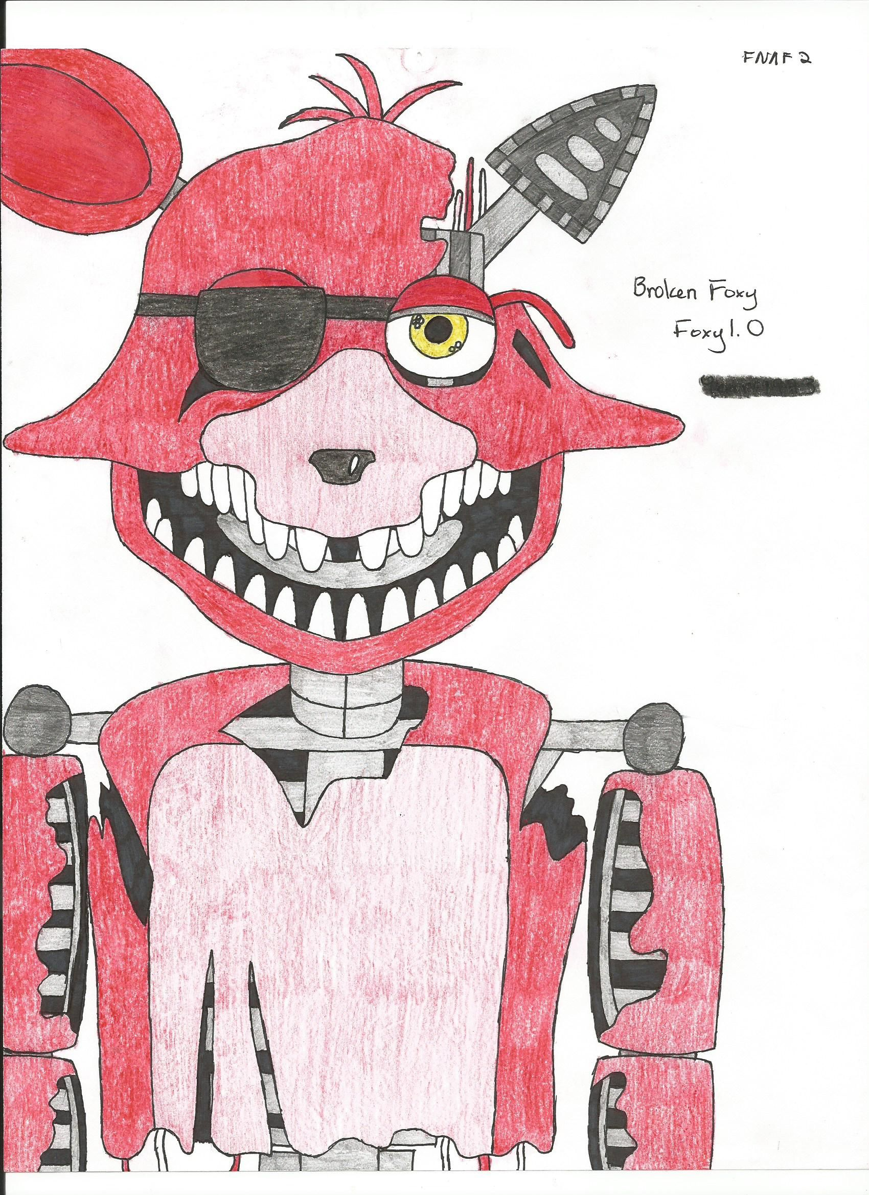 Withered Foxy The Pirate Desenhos Anime Fnaf