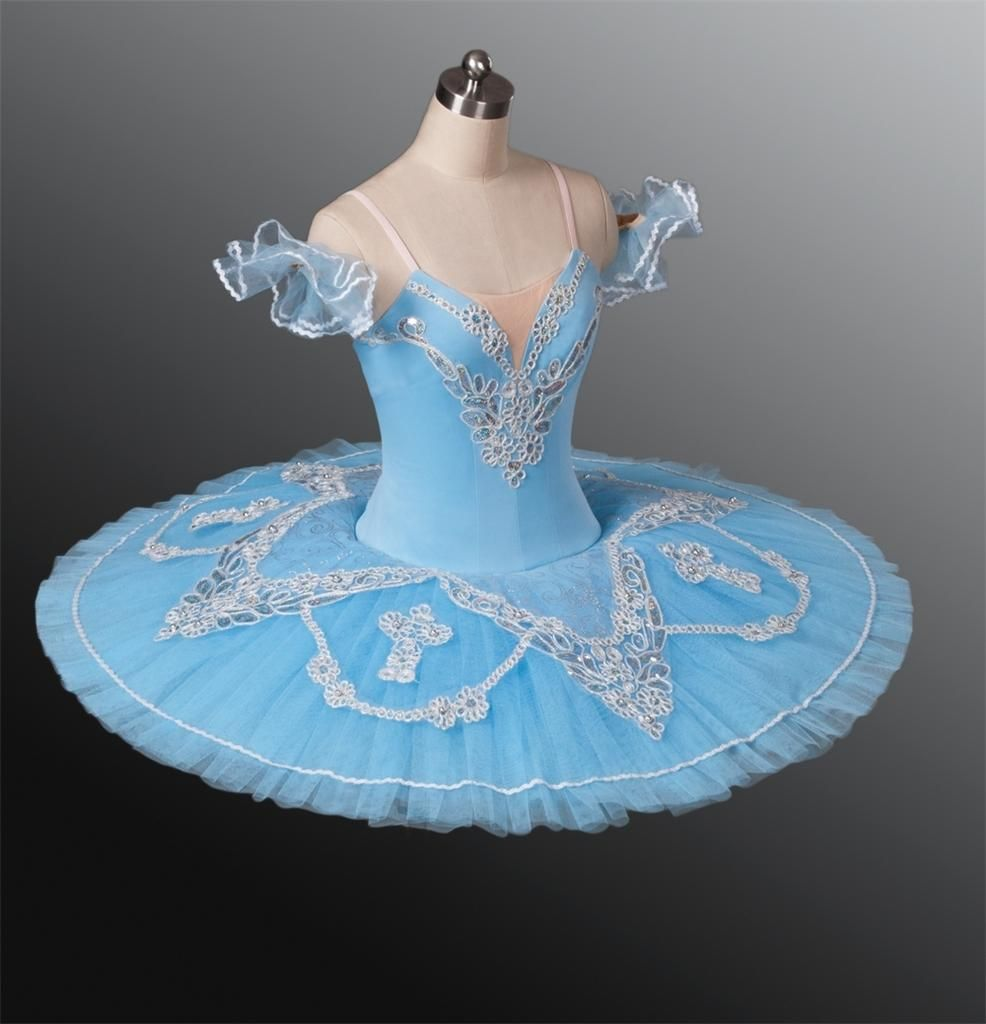 dbdece383 Classical Ballet Tutu Professional Competition Blue Silver All Sizes ...