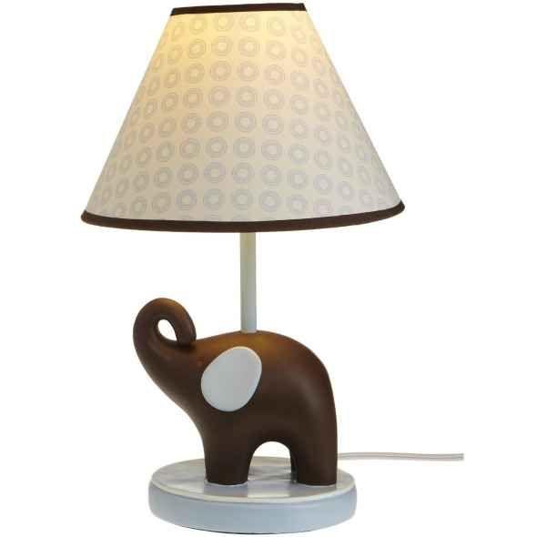 Carter's Blue Elephant Lamp Base And Shade | Elephant lamp ...