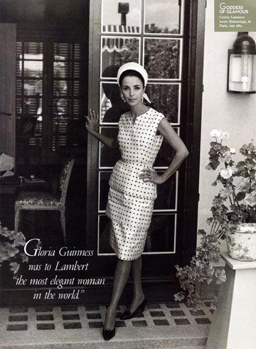 Gloria Guinness in Balenciaga, 1960's. Photographed by Eleanor Lambert's teenaged grandson.