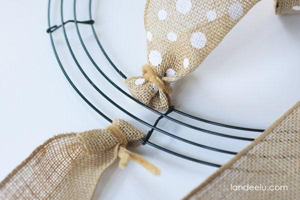 Photo of How To Make A Burlap Wreath {landeelu.com}
