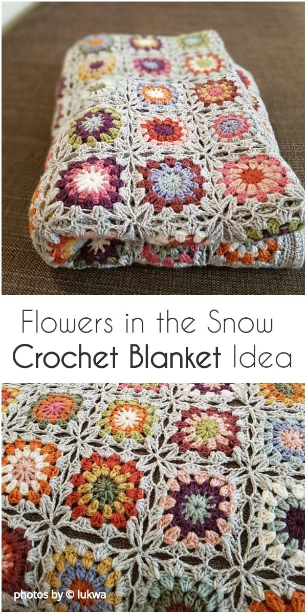 Stunning Flowers in the Snow - Free Pattern