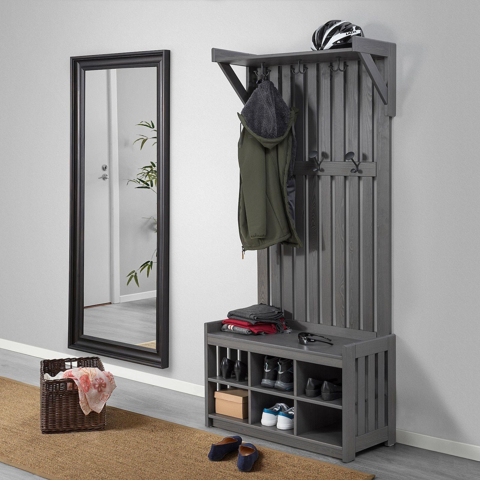 Panget Coat Rack With Shoe Storage Bench Dark Gray Stained 331 2x161 8x783 4 Ikea In 2021 Bench With Shoe Storage Coat And Shoe Storage Coat And Shoe Rack Coat rack with shoe storage