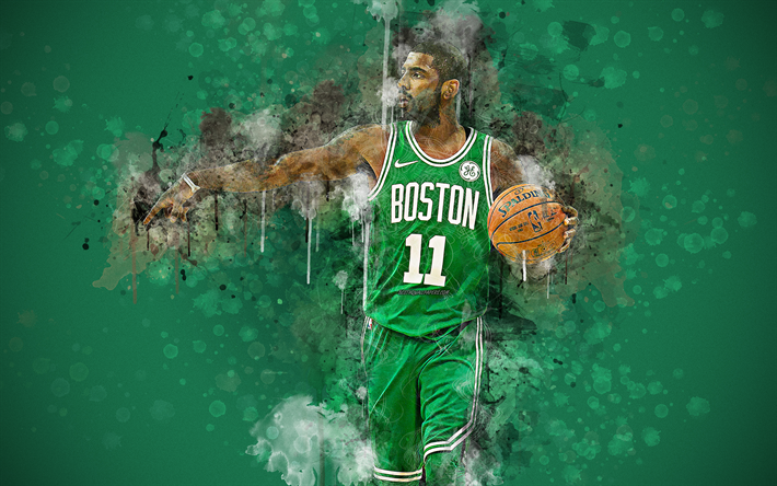 Download wallpapers Kyrie Irving, 4k, paint art