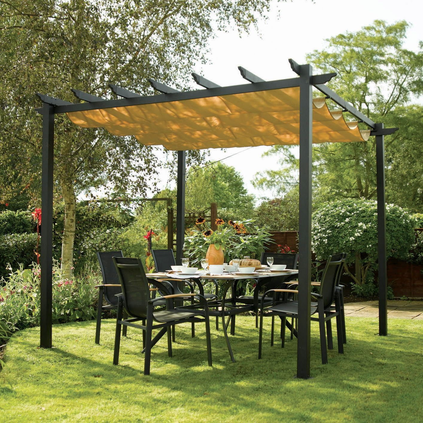 Rowlinson Latina Metal Free Standing Canopy - Assembly Required | Departments | DIY at Bu0026Q & Rowlinson Latina Metal Free Standing Canopy - Assembly Required ...