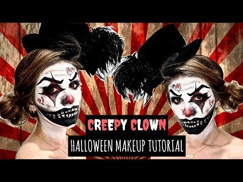 creepy clown halloween makeup tutorial  diy costume ideas