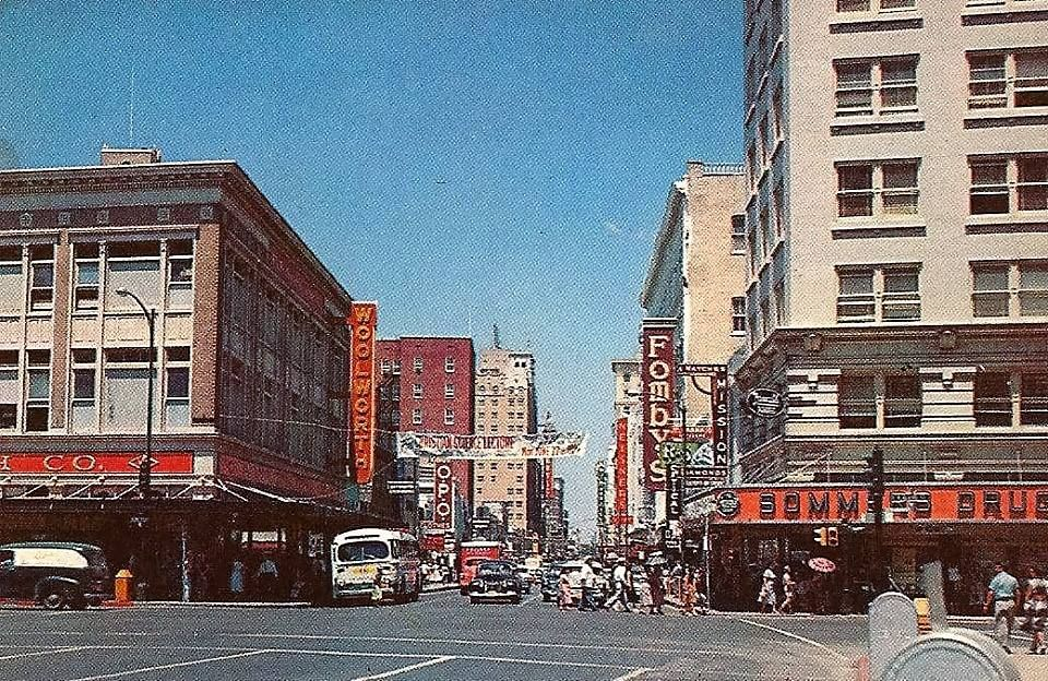 Houston To San Antonio >> 1940 S View Looking West On Houston St From Alamo St History