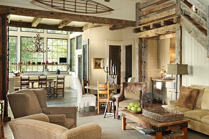 Airy And Cozy Rustic Living Room Designs 20 Jpg 666 445 Rustic Living Room Design Living Room Decor Rustic Cottage Living Rooms
