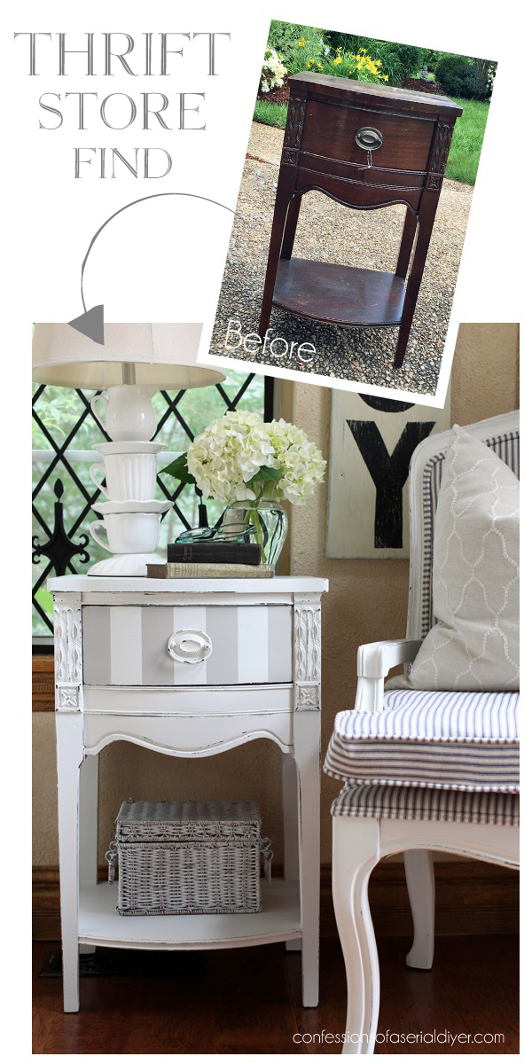 Side Table Update Shabby chic bedrooms, Shabby chic