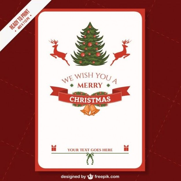 Cmyk Printable Christmas Card Template F Free Vector Freepik Freevector Back In 2020 Holiday Card Template Christmas Card Templates Free Printable Holiday Card
