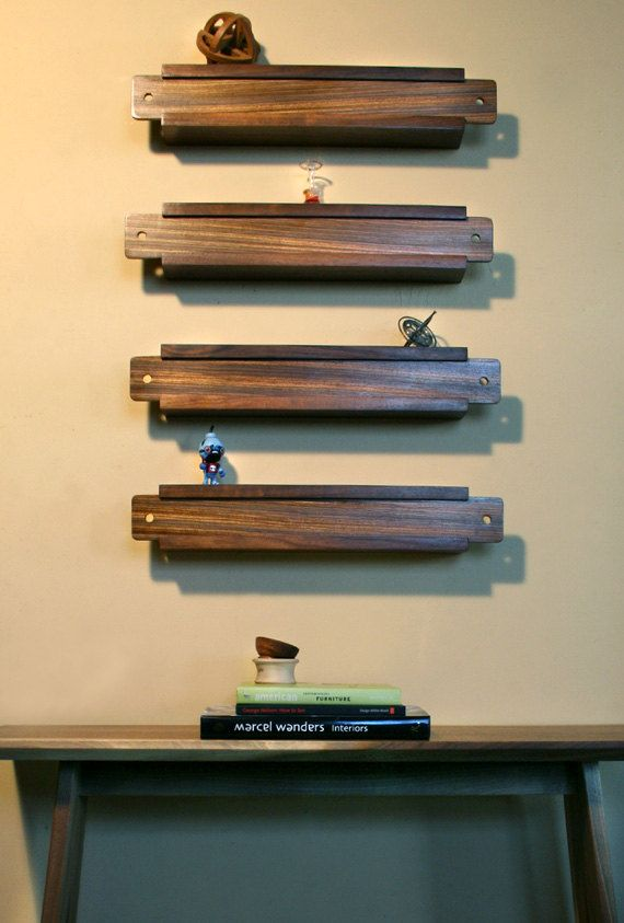 Slide Box Wall Shelving Decor Set Of 4 Cenzo Designs Home
