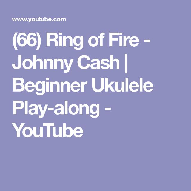 66) Ring of Fire - Johnny Cash | Beginner Ukulele Play-along